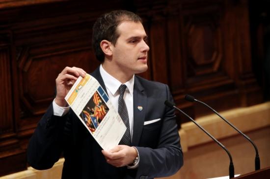 El líder de Ciutadans, Albert Rivera, al debat d'investidura