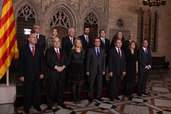 El nou executiu català després de la presa de possessió