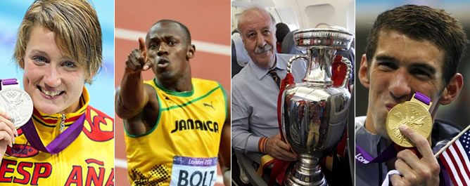 Los diez protagonistas positivos del deporte en el 2012