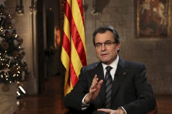 Artur Mas, en el seu missatge de Cap d'Any
