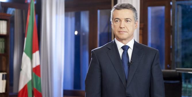 """El lehendakari anuncia que """"el Gobierno Vasco va a aplicar el máximo rigor económico"""""""