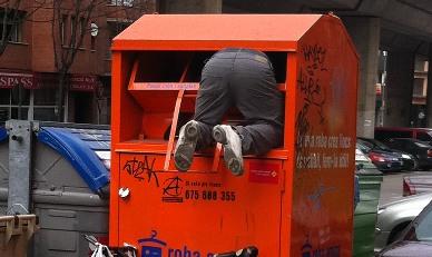 Un contenidor semblant al que va ser escenari de la tragèdia