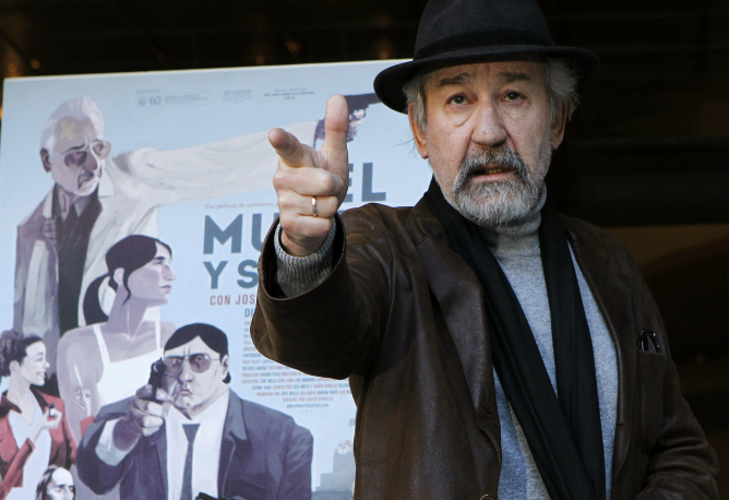 El veterano actor José Sacristán en la presentación en Madrid de 'el muerto y ser feliz'