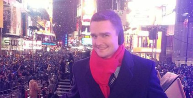 Dave Herman consiguió ser corresponsal para la gala de Noche Vieja en la cadena NBC.
