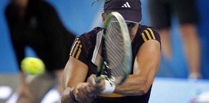 La tenista valenciana derrotó a Ivanovic en su partido de la final