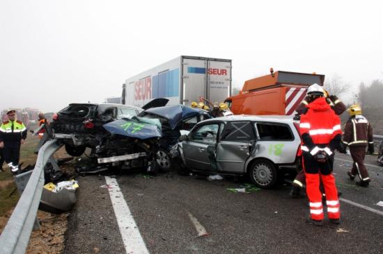 Imatge de l'accident múltiple de Castelldans