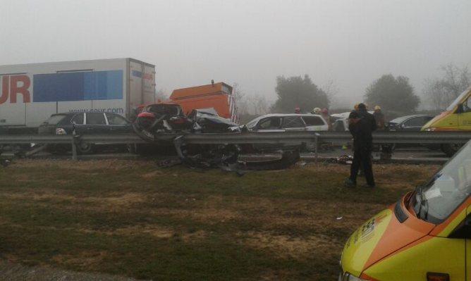 Foto cedida per una persona que ha resultat il.lesa a l'accident