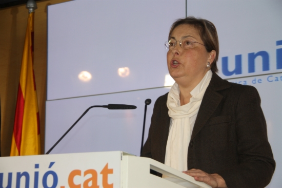 La portaveu d'Unió Democràtica, Marta Llorens