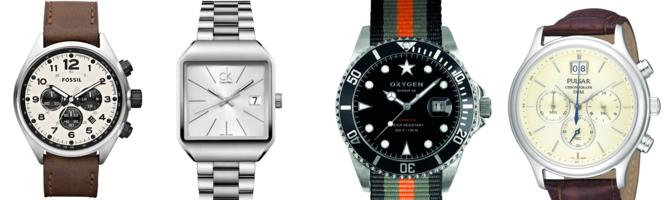 Cuatro apuestas seguras para marcar tendencia en los nuevos tiempos. De izquierda a derecha: Fossil CH2835, III Unique edition (de Toy Watch), Oxygen40-Amsterdam y Pulsar PU5003X1