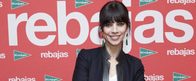 Maribel Verdú, durante la presentación de la nueva campaña de rebajas de El Corte Inglés, de la que es imagen