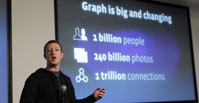 Mark Zuckerberg, durante la presentación del nuevo motor de búsqueda de Facebook