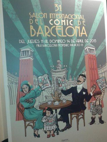 Cartell de la 31ena edició del Saló del Còmic que es farà a l'abril a Barcelona. Obra d'Alfonso Zapico