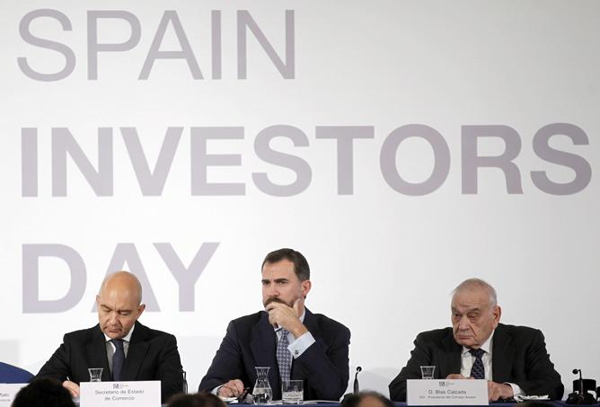 El Príncipe de Asturias ha inaugurado el encuentro financiero internacional 'Spain Investors Day', al que acuden unos 200 inversores internacionales y los primeros ejecutivos de las empresas del IBEX 35
