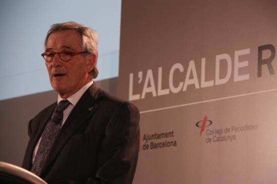 Xavier Trias, a la seva conferència al Col.legi de Periodistes