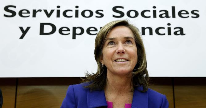 La ministra de Sanidad, Servicios Sociales e Igualdad, Ana Mato, durante la reunión del Consejo Territorial de Servicios Sociales y del Sistema para la Autonomía y Atención a la Dependencia