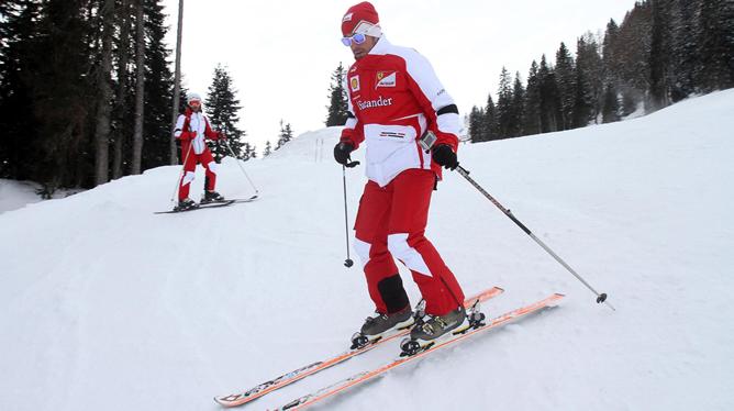 Fernando Alonso y Felipe Massa arrancan la temporada estrenando pista de esquí