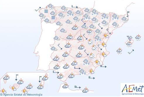 Pronóstico del tiempo para el domingo 20 de enero