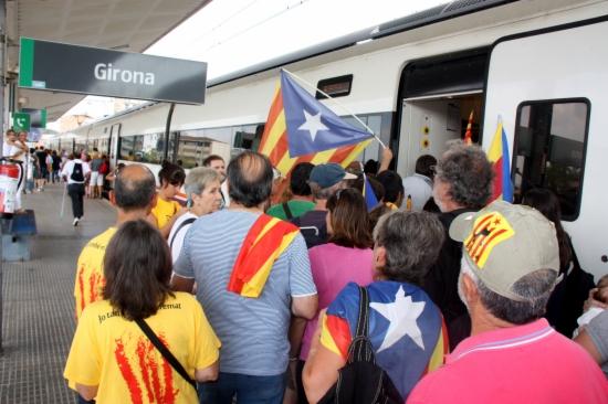 Imatge d'un dels trens contractats per l'Ajuntament de Girona per la Dida de 2012