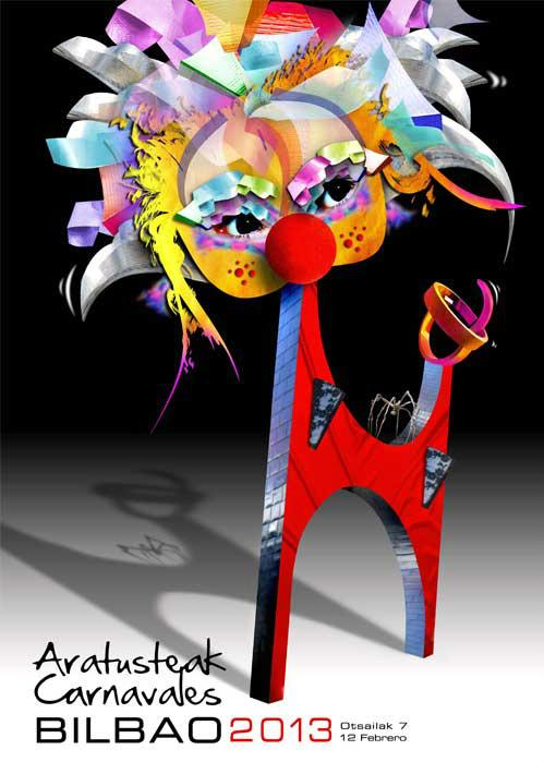 """""""Lehoia"""", cartel ganador concurso Carnaval de Bilbao 2.013"""