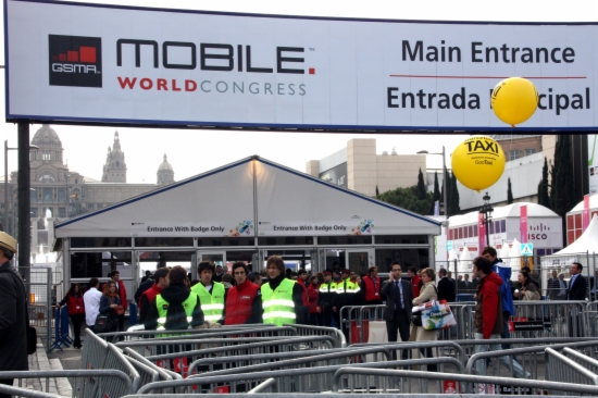 L'entrada al Mobile World Congress 2012