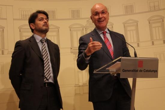 Oriol Pujol i Josep Antoni Duran i Lleida, en una imatge d'arxiu