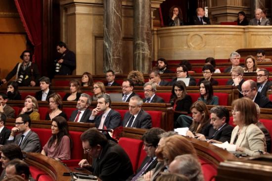 Els diputats socialistes al Parlament