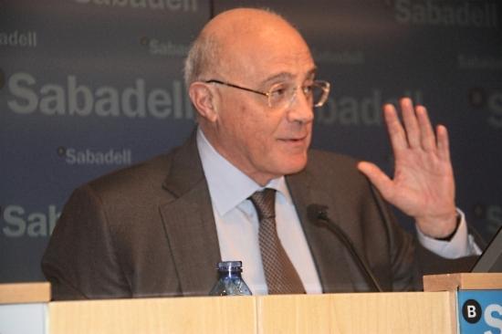 El president del Banc Sabadell, Josep Oliu