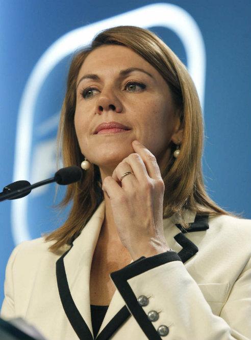 María Dolores de Cospedal durante una rueda de prensa