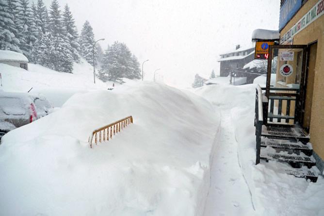 Fotografía tomada el 24 de enero en Candanchú, la zona del Pirineo de Huesca donde más ha nevado