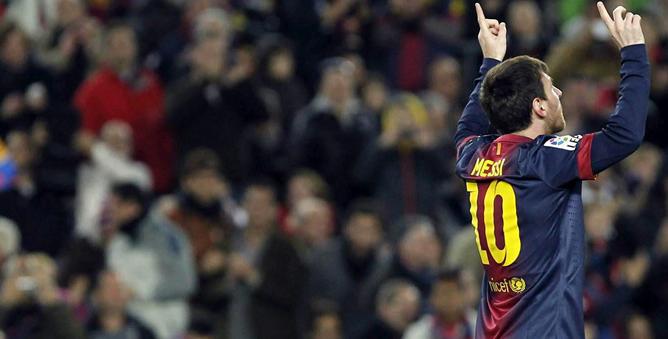El argentino ha vuelto a ser el protagonista con sus goles ante Osasuna en la jornada 21 de la Liga BBVA