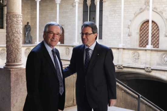 Artur Mas rep a Xavier Trias al Palau de la Generalitat