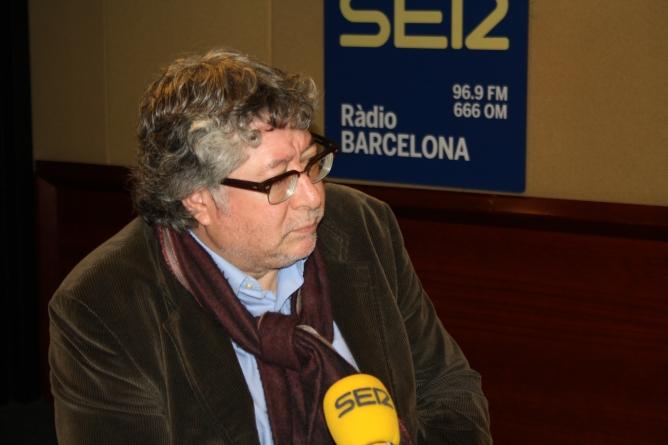 El secretari d'acció política del PSC, Antoni Balmón, als estudis de Ràdio Barcelona