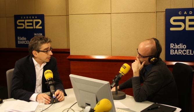 El líder del PSC a Barcelona, Jordi Martí, als estudis de Ràdio Barcelona