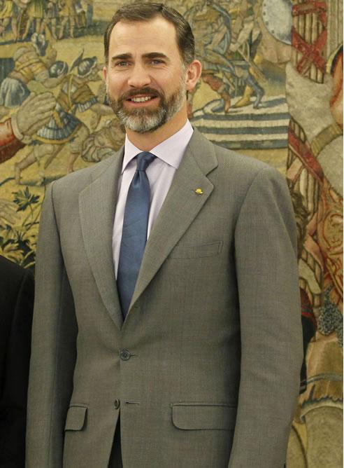 El príncipe Felipe de Borbón, heredero de la Corona española, cumple 45 años