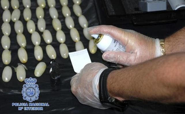 Boles de cocaïna que la Policia Nacional va trobar a l'estómac d'un traficant