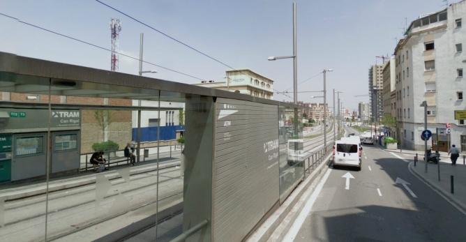 La zona de l'estació del Trambaix de Can Rigal, a L'Hospitalet del Llobregat