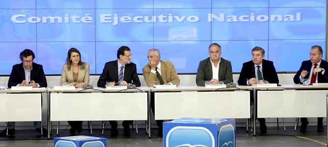 Rajoy preside la reunión extraordinaria del Comité Ejecutivo Nacional del PP