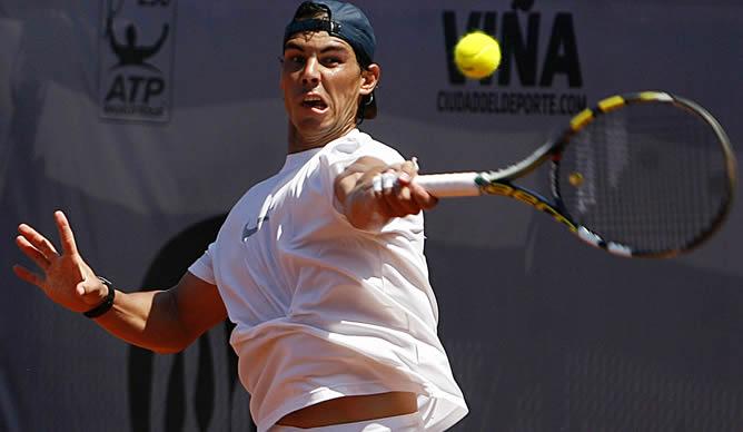 El tenista español reaparece en Chile después de siete meses alejado de las canchas de tenis por una lesión en la rodilla