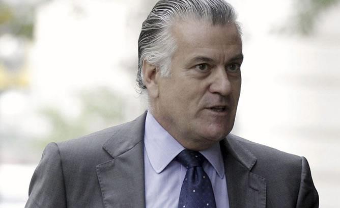 Luis Bárcenas, en una imagen a la salida de la Audiencia Nacional