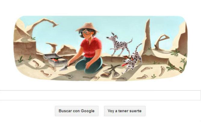 Google dedica su doodle a Mary Leakey, la antropóloga que descubrió el <i>Homo habilis</i>