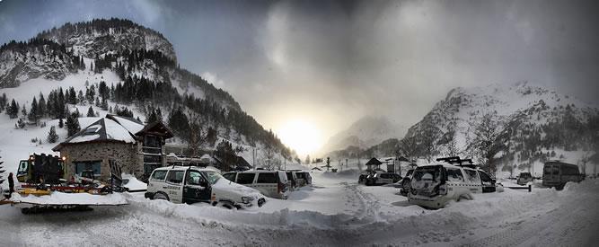 Estación de esquí Llanos del Hospital, en el Pirineo de Huesca