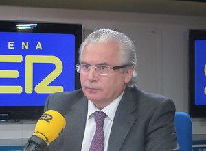 Baltasar Garzón durante una entrevista en la Cadena SER