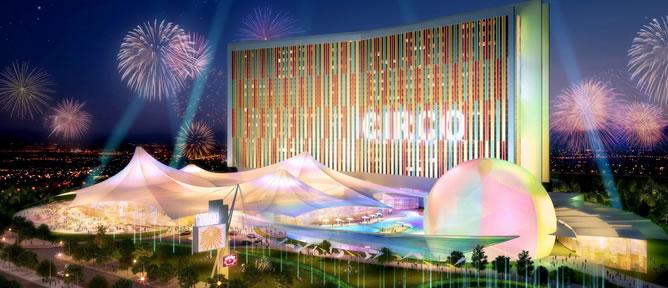 Imagen facilitada por la Comunidad de Madrid que muestra una reproducción en 3D del proyecto futuro del complejo Eurovegas en Alcorcón