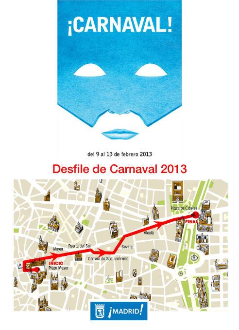 Plano del Ayuntamiento para los Carnavales 2013
