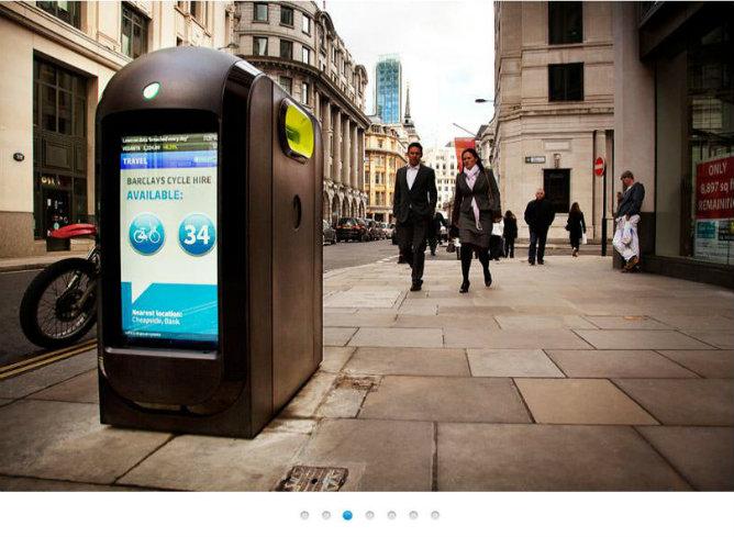 Captura de pantalla de la web de Renew, empresa que fabrica los contenedores de reciclaje 'inteligentes'
