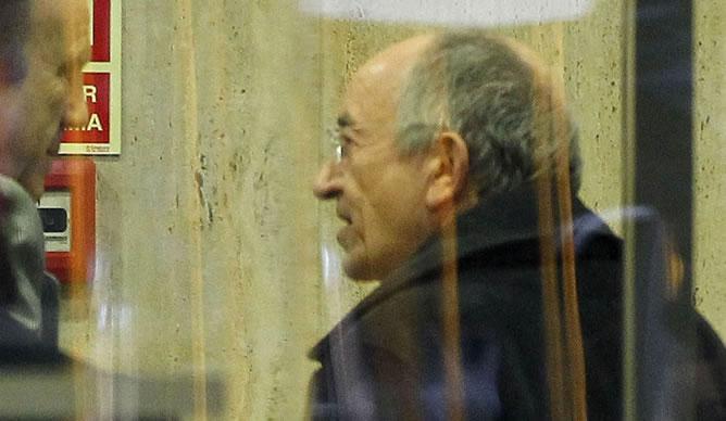 El exgobernador del Banco de España Miguel Ángel Fernández Ordóñez en las dependencias de la Audiencia Nacional