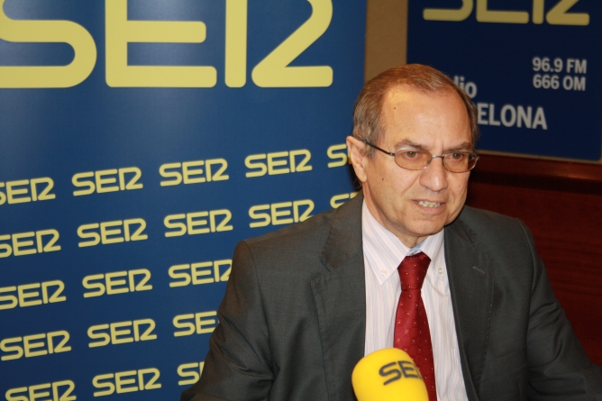 El fiscal jefe de Catalunya, Martín Rodríguez Sol, en los estudios de Ràdio Barcelona