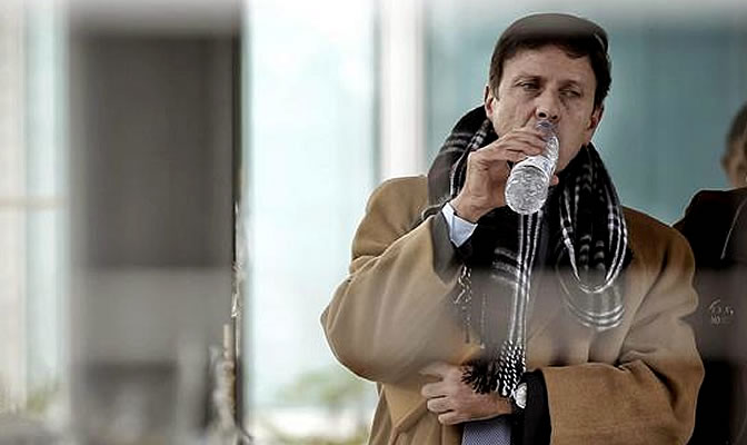 El médico Eufemiano Fuentes en los Juzgados de lo Penal de Madrid, donde continúa el juicio por la Operación Puerto