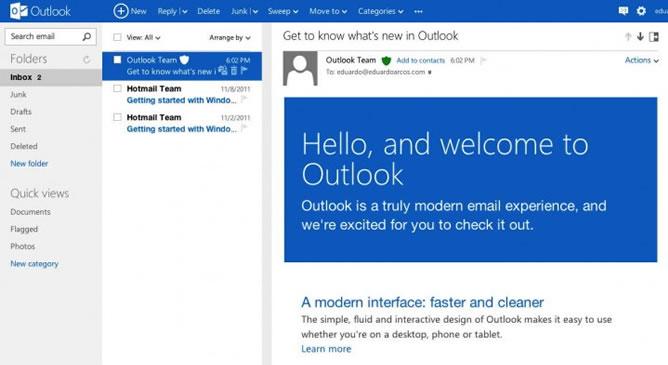 Los usuarios tendrán que utilizar Outlook.com, pero mantendrán todo exactamente igual, sin tener que hacer nada y de forma totalmente natural
