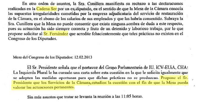 Los servicios jurídicos del Congreso estudian el caso de Arturo Fernández